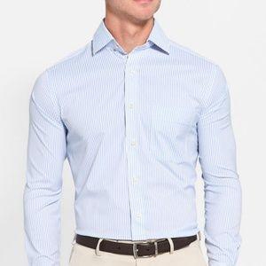 Peter Millar Performance Dress Stripe Sport Shirt